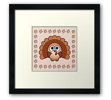 Little Cute Turkey Framed Print