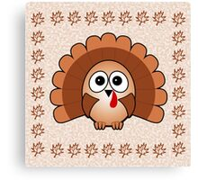 Little Cute Turkey Canvas Print