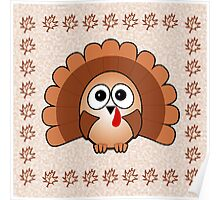 Little Cute Turkey Poster