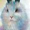 Bunny rabbit cute painting Svetlana Novikova by Svetlana  Novikova