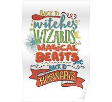 Back to Hogwarts Poster