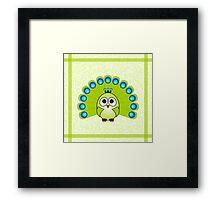 Little Cute Peacock Framed Print