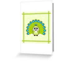 Little Cute Peacock Greeting Card