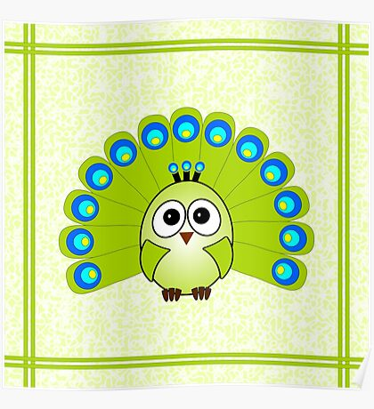 Little Cute Peacock Poster