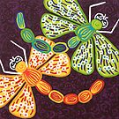 'Dragonflies Play'  - Quirky Happy Art by Lisa Frances Judd ~ Original Australian Art