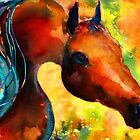 Fantasy Arabian Horse painting Svetlana Novikova by Svetlana  Novikova