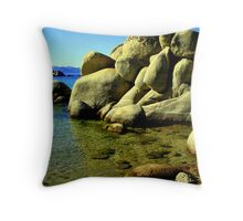 """Rocks and Ripples"" Throw Pillow"