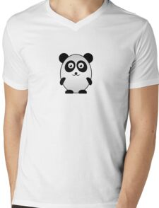 Little Cute Panda Mens V-Neck T-Shirt