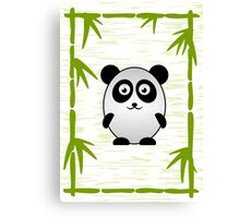 Little Cute Panda Canvas Print
