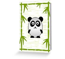 Little Cute Panda Greeting Card