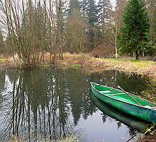 Green Canoe by Carl LaCasse