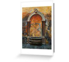 Ancient Italian Fountain Greeting Card