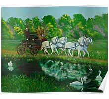 Coach And Four In Hand Poster