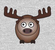 Little Cute Moose One Piece - Short Sleeve