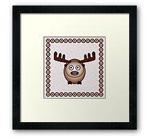 Little Cute Moose Framed Print