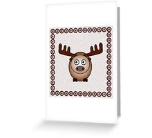 Little Cute Moose Greeting Card