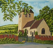 Norman Church In Fingest by Charlotte  Blanchard