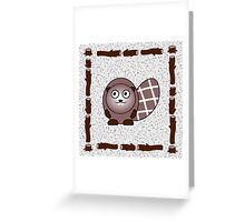 Little Cute Beaver Greeting Card