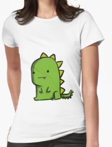 Lonely Dino Womens Fitted T-Shirt