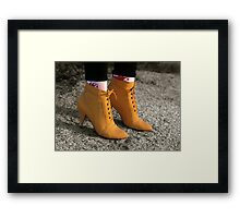 Yellow Boots, (The Eighties)            Framed Print