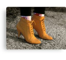Yellow Boots, (The Eighties)        Canvas Print