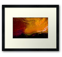 a swirling sky of mind flames... vincent in the field a tribute Framed Print