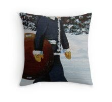 Going Sledding Throw Pillow
