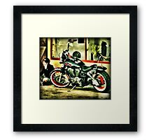 A fire burning in my heart..... Framed Print