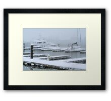 Korean Memorial at Canton Waterfront Framed Print