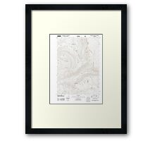 USGS Topo Map Oregon Red Blanket Mountain 20110715 TM Framed Print