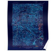 USGS Topo Map Oregon Waldo Lake 283279 1925 125000 Inverted Poster