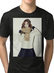 GIRLS' GENERATION - Jessica Jung - Blanc & Eclare - Full Color Tri-blend T-Shirt