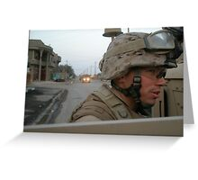 Marines in Fallujah  Greeting Card