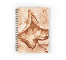 Autumn Leaf - Coffee painting Spiral Notebook