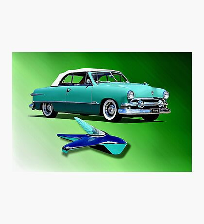1951 Ford Twin Spinner Coupe Photographic Print
