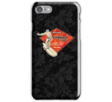 Club Surfing Diamond Hawaiian Print - Black & Red iPhone Case/Skin