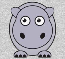 Little Cute Hippopotamus Kids Tee