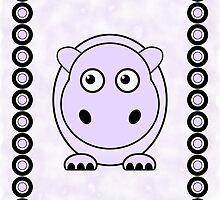 Little Cute Hippopotamus by Anastasiya Malakhova