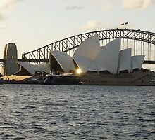 Opera house reflections- Sydney Harbour  by johnno