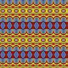 Pattern Blue Gold Orange by Sarah Curtiss