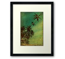 Tropical Vestige Framed Print