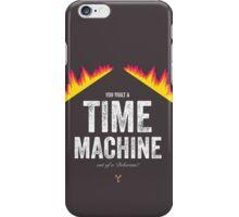 Cinema Obscura Series - Back to the future - Time Machine iPhone Case/Skin