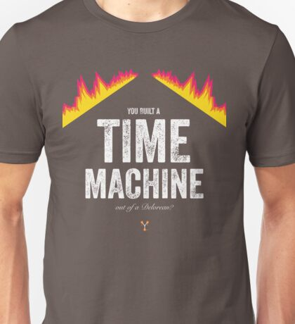 Cinema Obscura Series - Back to the future - Time Machine Unisex T-Shirt