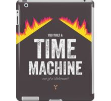 Cinema Obscura Series - Back to the future - Time Machine iPad Case/Skin