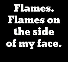 Flames on the Side of My Face Clue by swannonthefarm
