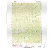 USGS Topo Map Oregon White Rock 282071 1987 24000 Poster
