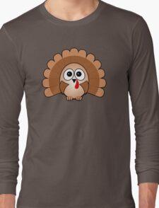 Little Cute Turkey Long Sleeve T-Shirt