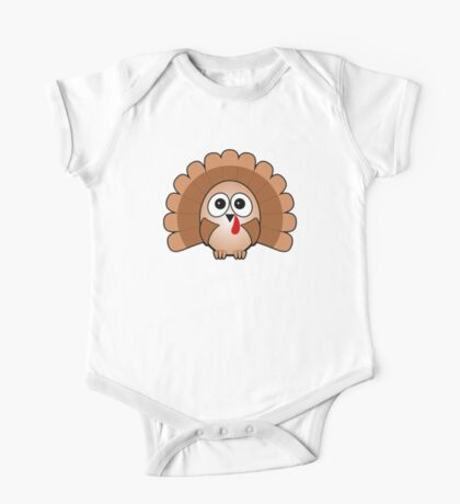 Little Cute Turkey One Piece - Short Sleeve