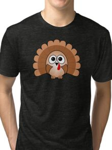 Little Cute Turkey Tri-blend T-Shirt