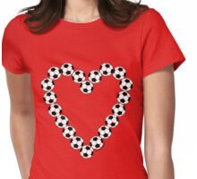 Soccer Ball Heart  Womens Fitted T-Shirt